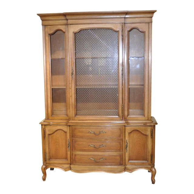 French Provincial Walnut Cabinet - Image 1 of 8