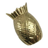 Image of Vintage Brass Pineapple Door Knocker For Sale