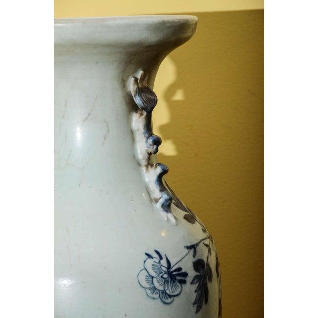 Blue & White Temple Vase - Image 7 of 7