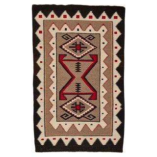 Intricate Teec Nos Pos Navajo Rug W/ 4 Corner Pattern Circa 1930s