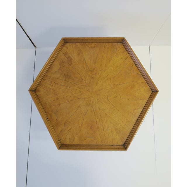 Hexagon Wood Side or End Table Esperanto by Drexel For Sale - Image 11 of 13