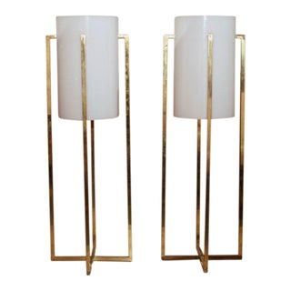 Robert Sonneman Tall Table Lamps - a Pair For Sale