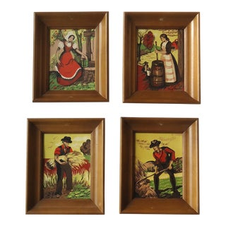 """Mid Century """"Sophisticated Provincials"""" Prints by Margo Alexander - Set of 4 For Sale"""