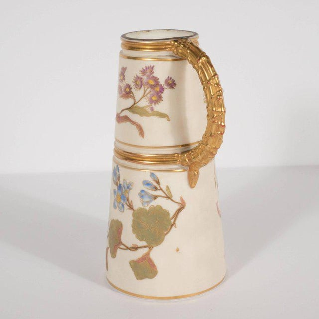 This beautiful Art Nouveau vase was created at the height of Art Nouveau by Royal Worcester- the oldest and most...