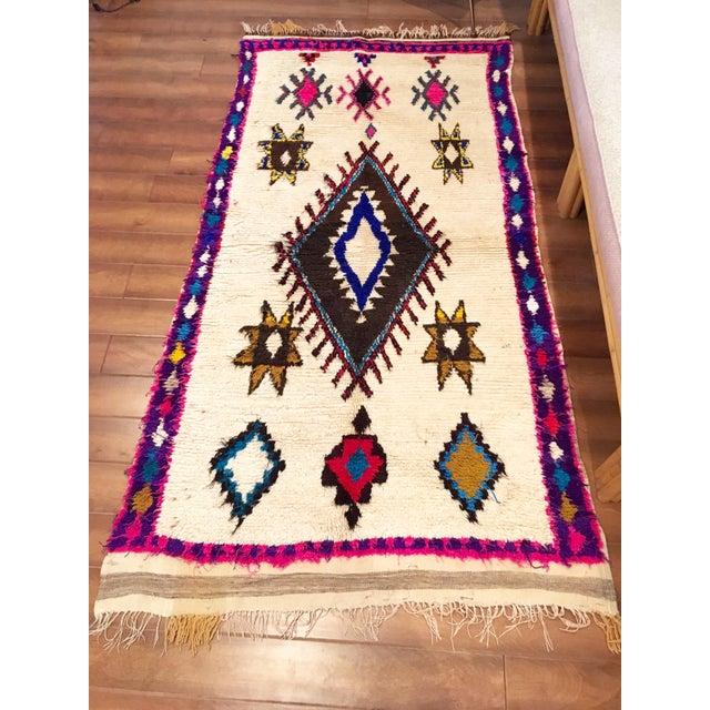 Vintage Moroccan Azilal Rug - Image 2 of 6
