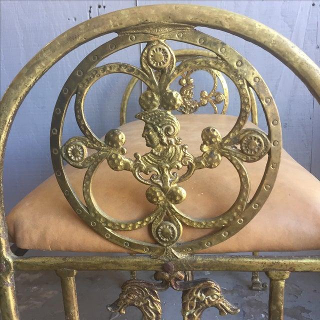 Oscar Bach Oscar Bach Bronze and Iron Bench For Sale - Image 4 of 10