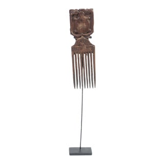 Antique Indonesian Teak Hair Comb For Sale