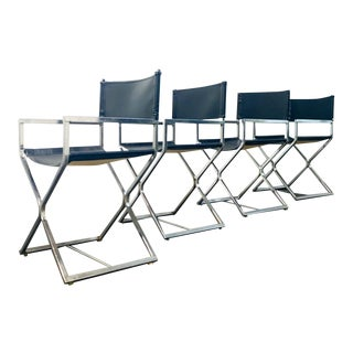 Milo Baughman For DIA Directors Chairs-Set of 4 For Sale