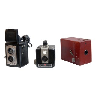 Vintage Camera Collection - Black and Red