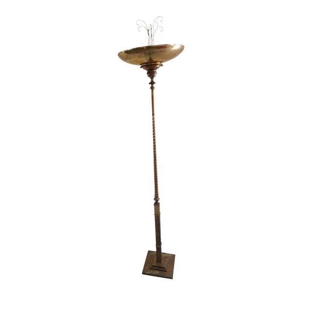 20th Century Brass Floor Lamp For Sale