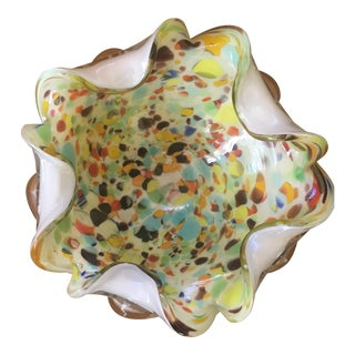 Murano Glass Console Bowl For Sale