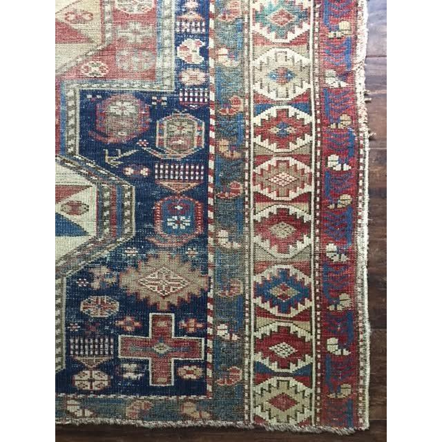 "Antique Persian Kazak Rug - 3'5"" x 4'3"" - Image 6 of 7"