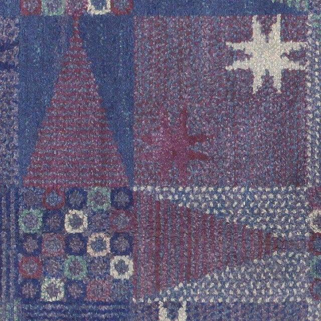 Textile Vintage Scandinavian Carpet by Marta Maas-Fjetterström - 6′ × 6′ For Sale - Image 7 of 9