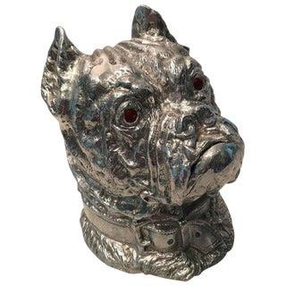 1970s Hollywood Regency Arthur Court Bulldog Ice Bucket