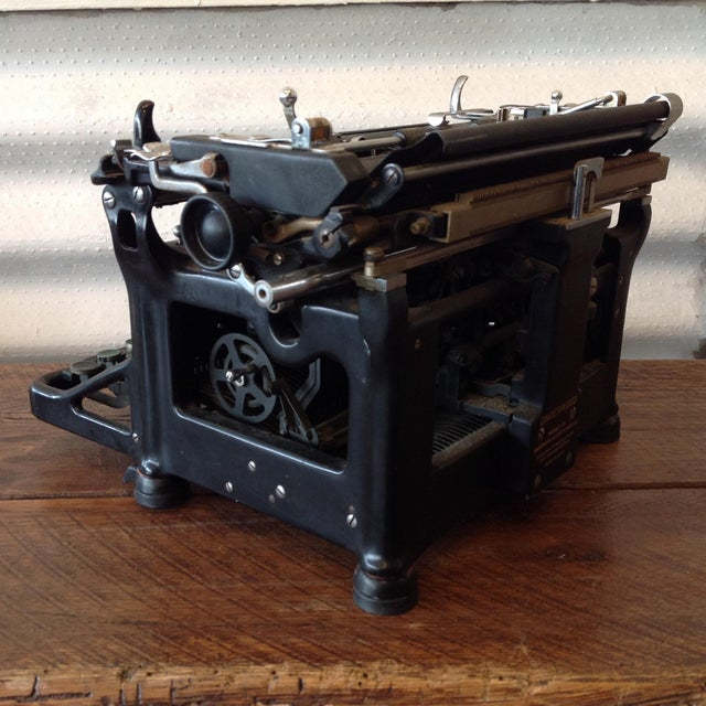 Antique Underwood Typewriter - Underwood No 6 For Sale - Image 4 of 5