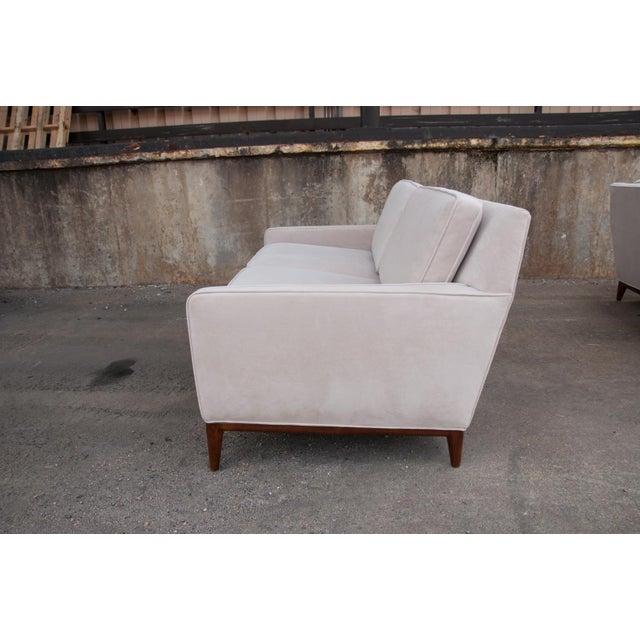 White Circa 1950 United States Modern Dunbar/John Stuart Cream Velvet Sofas - a Pair For Sale - Image 8 of 10