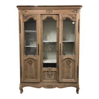 19th Century Louis XV Style Carved Oak Bibliotheque For Sale