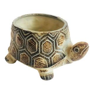 Vintage Ceramic Turtle Planter For Sale