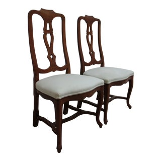 Vintage Kittinger French Country Splat Back Dining Side Chairs - a Pair For Sale