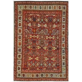 Surena Rugs Hand Knotted Vintage Wool Area Rug - 4′7″ × 6′10″