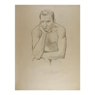 Just Thinking Figure Study Drawing For Sale