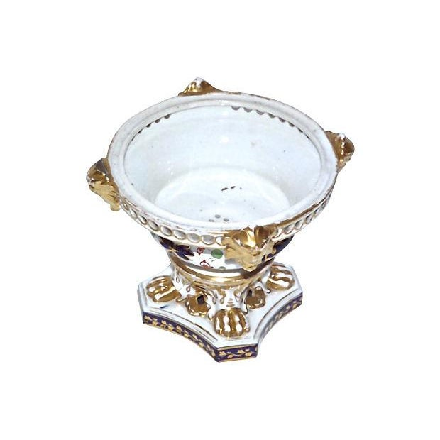 English Traditional Antique Royal Derby Garniture Compote For Sale - Image 3 of 7