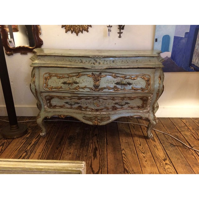French Rococo Painted & Parcel Gilt Commode - Image 8 of 10