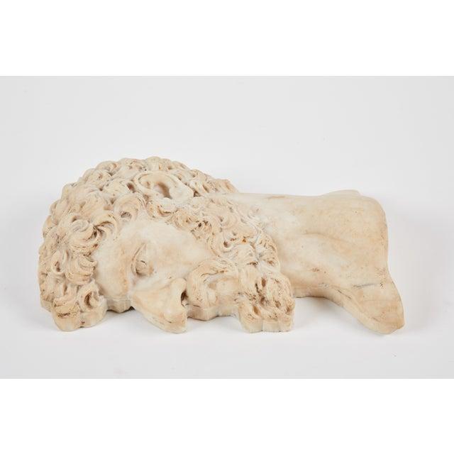 """Italian 19th C. Italian """"Lucius Verus"""" Roman Emperor Marble Relief For Sale - Image 3 of 6"""