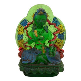 "Peking Glass Siddhartha Gautama Buddha Figure 4.5"" H For Sale"