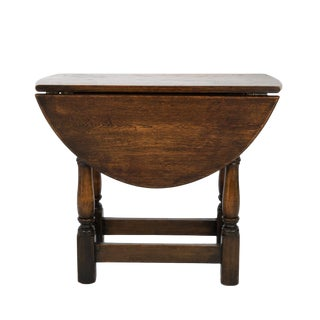 Small Scale Oak Swivel Top Drop-Leaf Table; English Circa 1890 For Sale