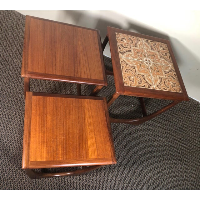 Mid-Century Modern Mid Century Teak Nesting Side Table Set by G Plan For Sale - Image 3 of 10