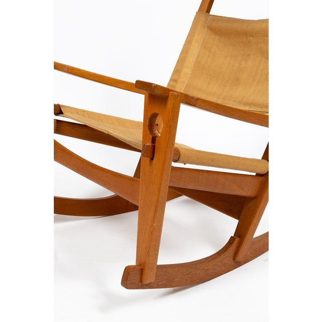 Keyhole Rocking Chair by Hans Wegner For Sale - Image 6 of 13