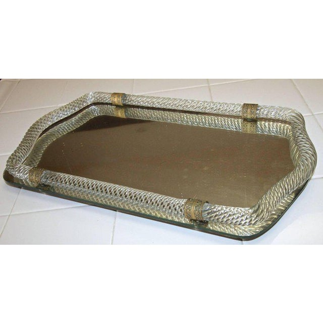 Italian Murano Twisted Glass Rope Vanity Tray For Sale In Palm Springs - Image 6 of 11