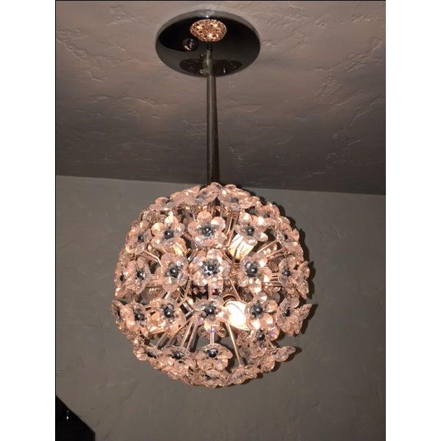Crystal Flower Sphere Pendant Light - Image 3 of 4