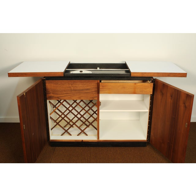 Dillingham Walnut Bar Cart With Wine Rack - Image 6 of 8