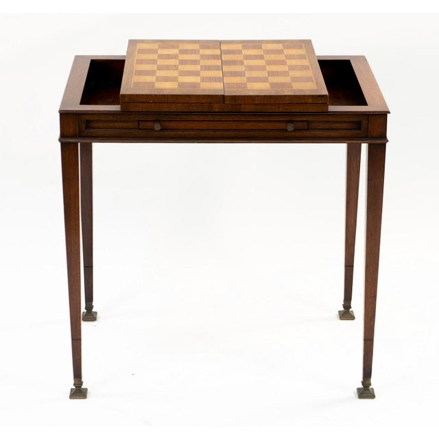 Vintage Mahogany Game Table - 1950's Weiman For Sale - Image 13 of 13