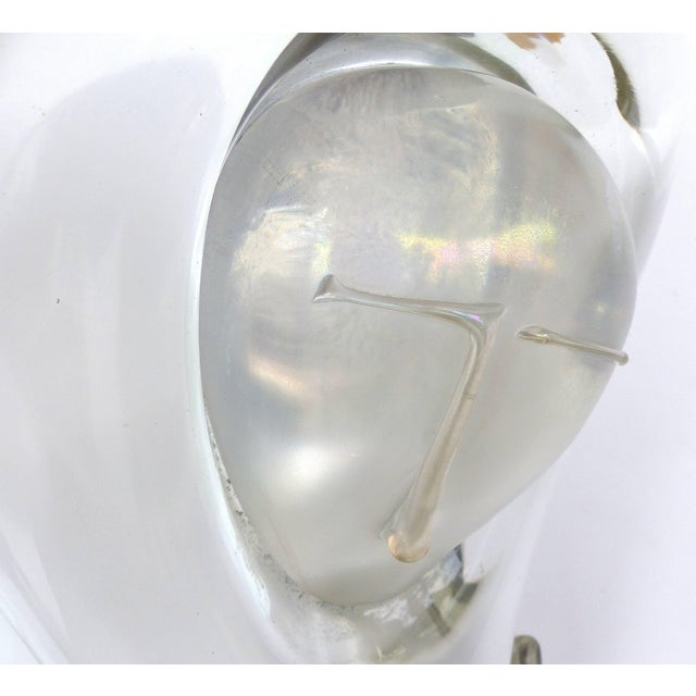 Late 20th Century Loredano Rosin Modern Clear Glass Sculpture of a Woman's Nude Torso For Sale - Image 5 of 11