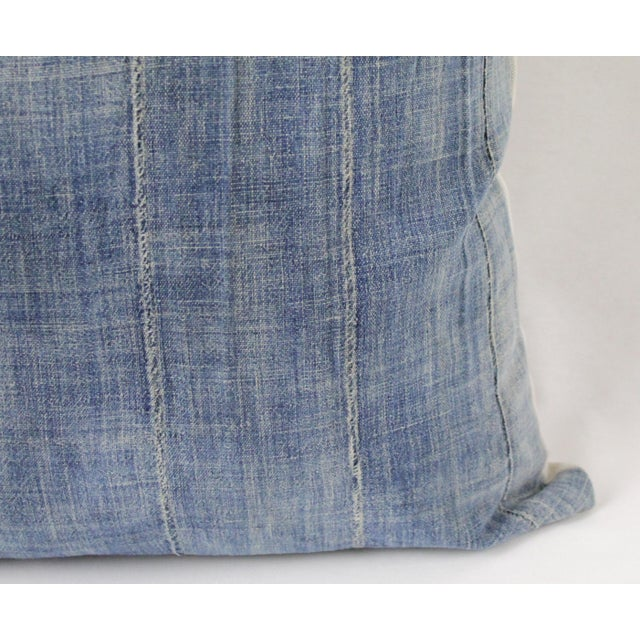 Vintage Blue Distressed Denim Pillow For Sale In Los Angeles - Image 6 of 10