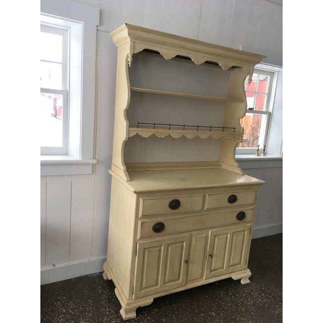 Ethan Allen Yellow Hardwood Hutch - Image 7 of 10