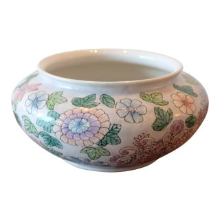 Hand Painted Floral Studio Pottery Bowl