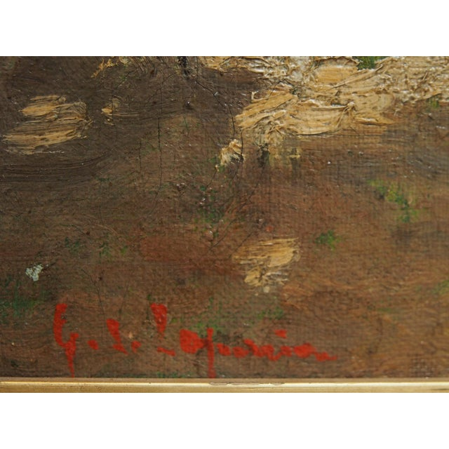Late 19th Century Oil on Canvas Landscape in a period frame For Sale - Image 5 of 6