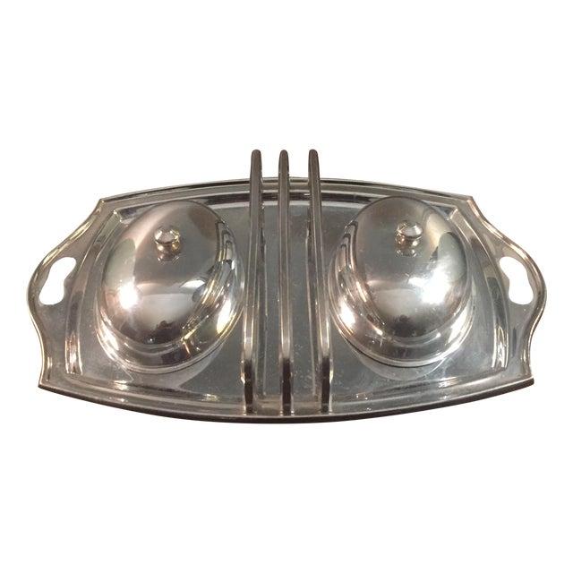 Vintage Stainless Steel Breakfast Tray - Image 1 of 5
