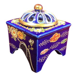 Cobalt Blue Porcelain Incense Burner