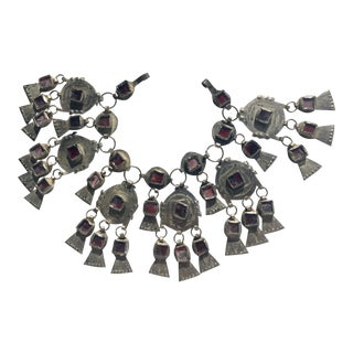 Moroccan Boho Chic Berber Collar Necklace For Sale