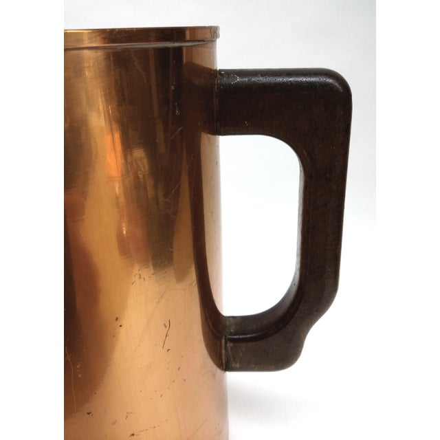 Mid-Century Embossed Solid Copper Pot - Image 7 of 8