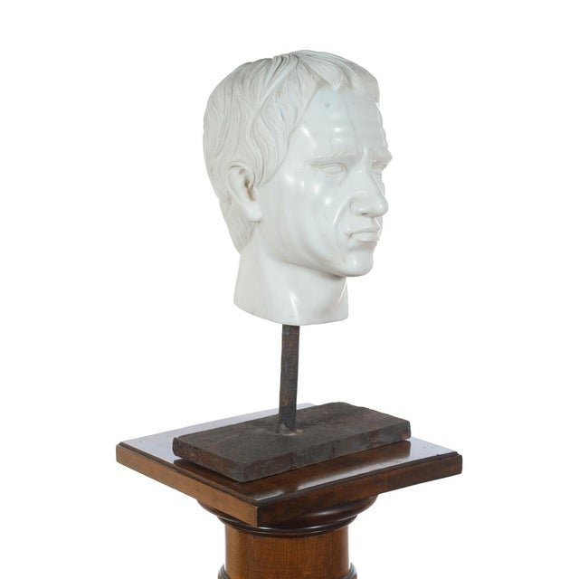 Neoclassical Roman Emperor Marble Bust For Sale - Image 3 of 10