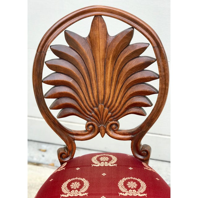 Biedermeier Mid 19th Century Antique Walnut Austrian Chairs- Set of 4 For Sale - Image 3 of 12