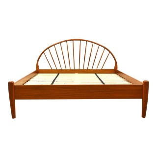 Danish ModernTeak Queen Bed by Jespersen Mid Century Modern For Sale