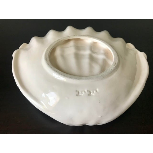 Ceramic 1980s Vintage Fitz & Floyd Yellow & White Seashell Dish For Sale - Image 7 of 12