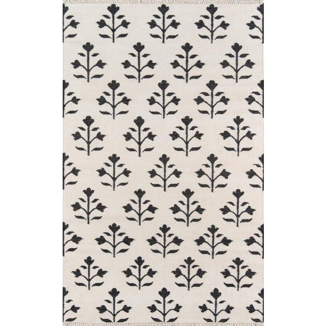 "2010s Erin Gates Thompson Grove Ivory Hand Woven Wool Area Rug 3'6"" X 5'6"" For Sale - Image 5 of 5"